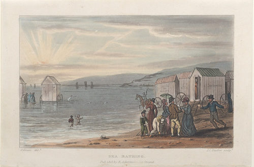 Engraving of Thomas Rowlandson Sea Bathing 1813