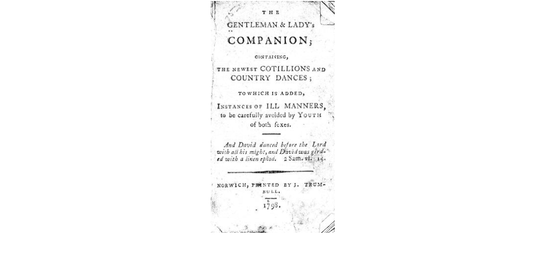 A title page of Gentleman and Lady Companion